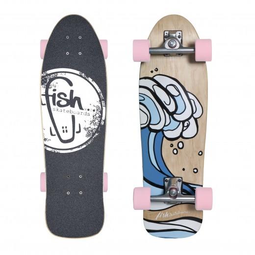 Surfskate Surf/Silver/Pink