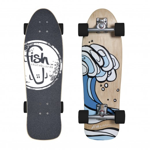 Surfskate Surf/Silver/Black