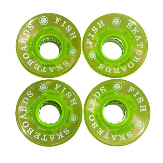Kółka świecące transparent green 59mm/78A