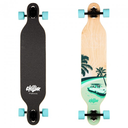Longboard Chillax Caddy Blue 104 cm