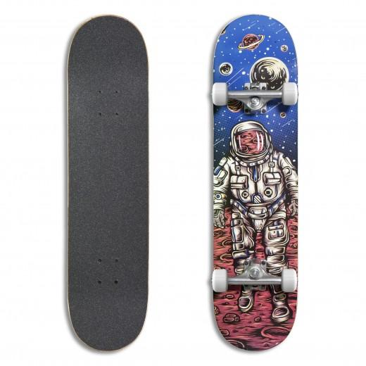 Skate Astronaut/Silver/White