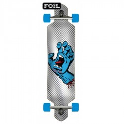 "Longboard Santa Cruz cruzer Screaming Hand Foil Drop Thru 9.2"" x 41"""