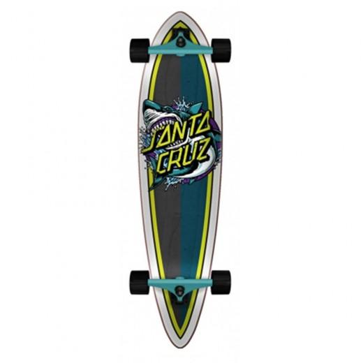"Longboard Santa Cruz cruzer Shark Dot Pintail 9.58"" x 39.0"""