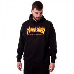 Bluza męska z kapturem Thrasher Flame Logo Hoody black
