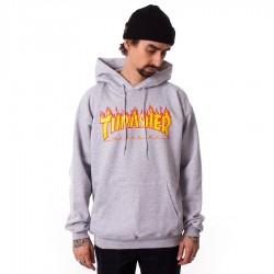 Bluza z kapturem Thrasher Flame Logo Hoody grey