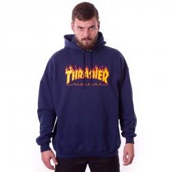 Bluza męska z kapturem Thrasher Flame Logo Hoody navy blue