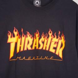 Koszulka Thrasher L/S Flame Black