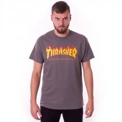 Koszulka męska Thrasher Flame charcoal
