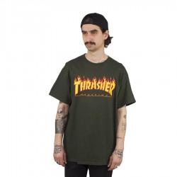 Koszulka męska Thrasher Flame Logo green
