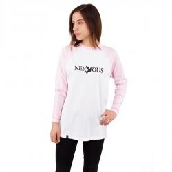 Longsleeve damskI Nervous FA19 Raglan Classic white / pink