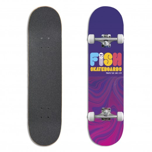 Deskorolka Fishskateboards Worm 8.0