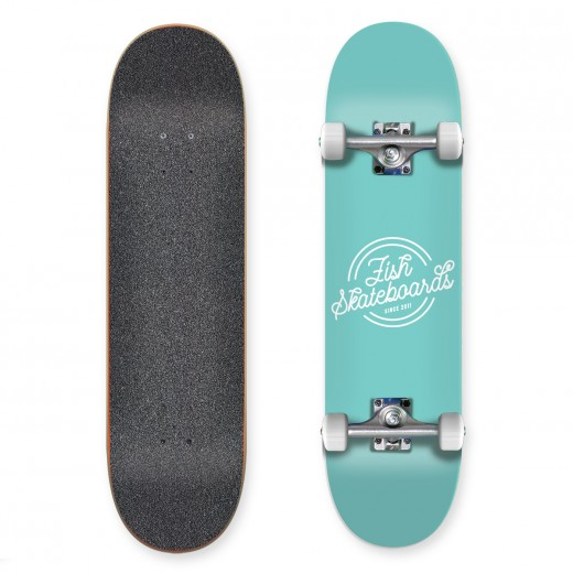 Deskorolka Fishskateboards Retro Mint 8.0