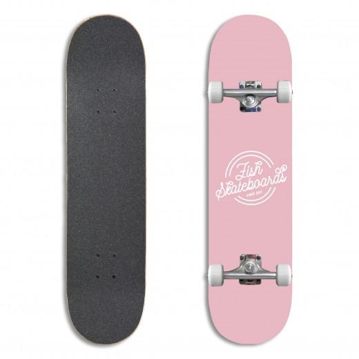 Deskorolka Fishskateboards Retro Pink 8.0