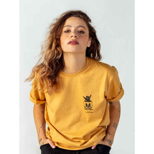 Koszulka Surf Skull Yellow