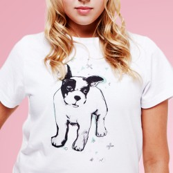 Dog White Tee