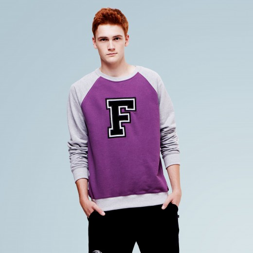 F Purple Crew Fleece