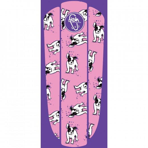 Vlepka Pink Bulldog