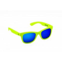 Neon Green Yellow Fluo/Mirror Blue